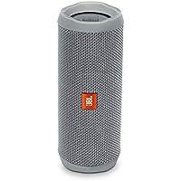 JBL Flip 4 Enceinte Portable Robuste - Étanche IPX7 pour Piscine & Plage - Autonomie 12 hrs - Qualité Audio, Bluetooth, Gris