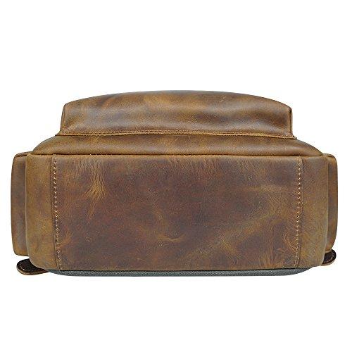 S-ZONE Custodia lunga dellorganizzatore in pelle multicolore in pelle multicolore con tasca di chiusura a zip Marrone chiaro
