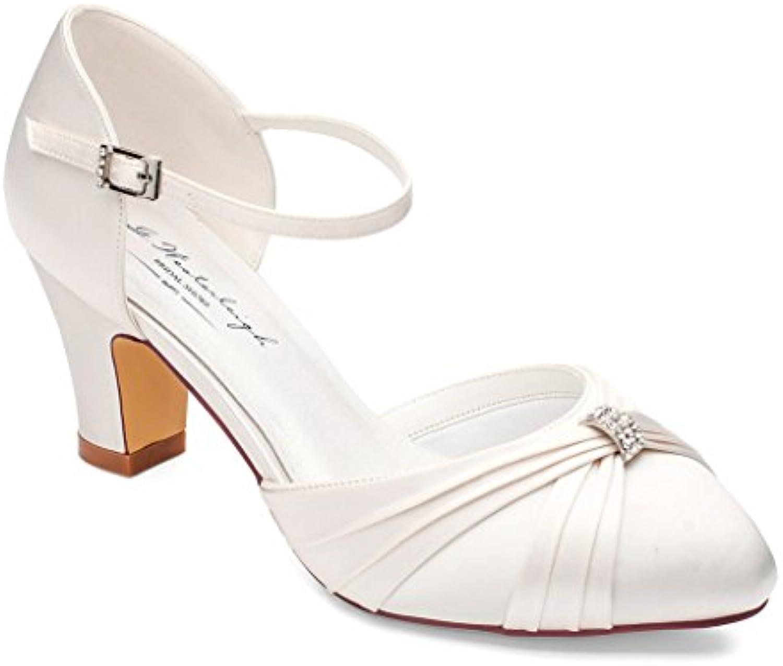Brautschuhe Hochzeitsschuhe Luciana Ivory Satin 2018 Letztes Modell  Mode Schuhe Billig Online-Verkauf