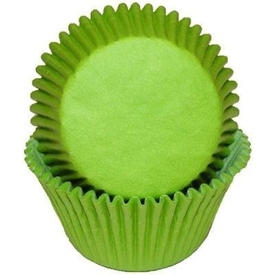 1 X Lime Green Cupcake Baking Cup Liners, 50 Count, by GSA by GLOBAL SUGAR ART PRODUCTS (Cupcake Lime Liner Green)