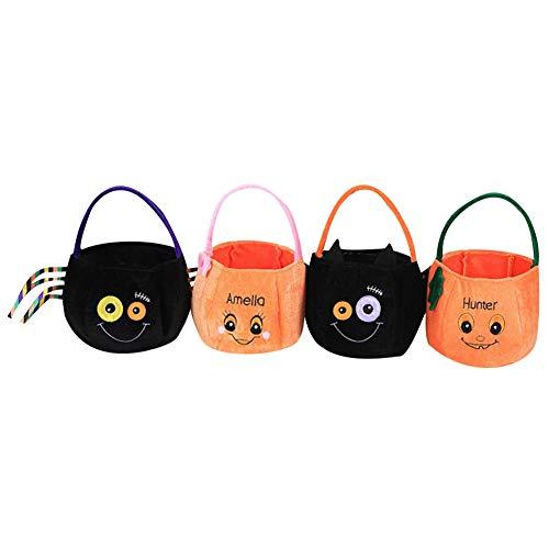 (Halloween Goodie Taschen,4pcs Halloween Tasche Flax Leinen Party Süßigkeit Geschenkbeutel Tragetasche,Halloween Thema Staubbeutel für Halloween Party (Pack 1))