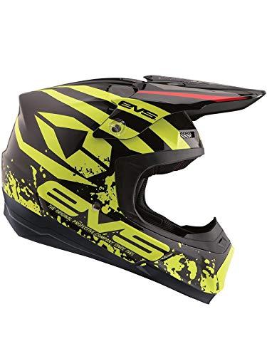 EVS Schwarz 2018 T5 Grappler Mx Helm (Large, Schwarz) (Evs Helm)