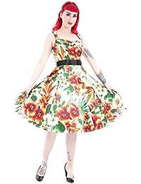 ALSTROMERIA Lilien Vintage Flower TRÄGER Dress / Kleid Rockabilly