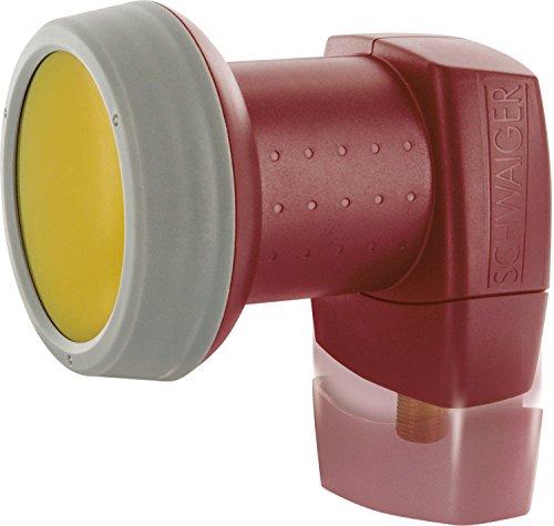 SCHWAIGER 326- Single LNB mit Sun Protect, 1-Teilnehmer, digital, extrem hitzebeständige LNB Kappe, Einsatz mit Satellitenschüssel, multifeed-tauglich mit Wetterschutz und vergoldeten Kontakten