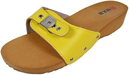 Buxa Sandalias/Zuecos para Mujer con Ajustador, Suela de Madera