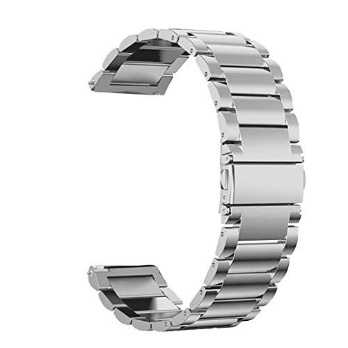 Battnot für Huawei Watch GT Uhrenarmbänder Edelstahl-Schnellspanner Bracelet Uhrenarmband Handschlaufe Handgelenksriemen für Damen Herren Einstellbar Ersatzarmband Adjustable Replacement Wriststraps