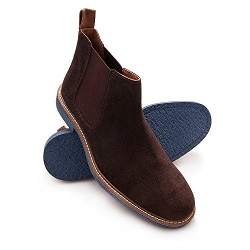 Zerimar Chaussure en Cuir Pour Homme Élégante Chaussure Pour Homme Marron