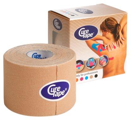 CureTape Kinesiologie Tape für Sport & Medizin beige 5 m x 5 cm, 1 Rolle