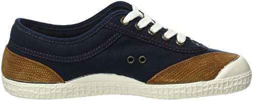 Kawasaki Unisex-Erwachsene Retro Sticth Low-Top Blau (Dark navy, 14)