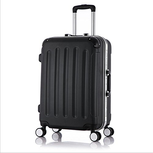 Xiuxiandianju 20 pollici universale ABS Rod custodia impermeabile resistente bagaglio di viaggio (diversi SuitcaseColour) Black