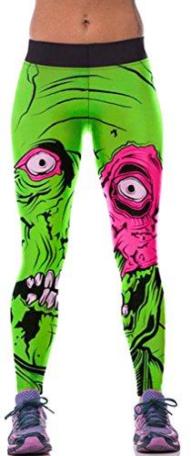 Belsen Damen Leggings mehrfarbig kürbis M Gr. M, Zombie