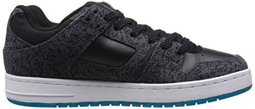 DC Men's Manteca Skate Shoe, Black/Black/Gum, 5 M US Black/Glacier Blue