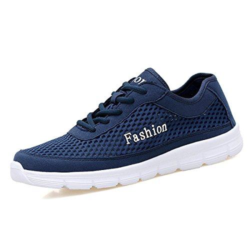 GRRONG Chaussures De Sport Pour Hommes Chaussures De Sport Filet Respirant Loisirs blue