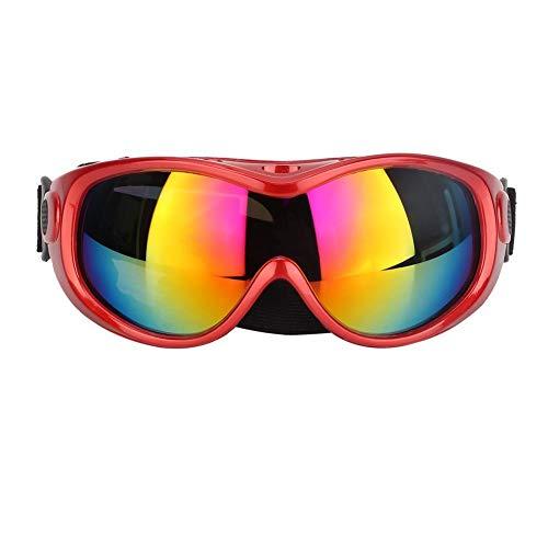 Bicaquu Hund UV-Schutzbrille Sonnenbrille Pet Eyes Schutzzubehör für mittelgroße und große Hunde(rot)