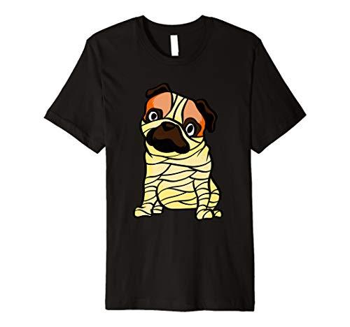 Lustiger Mops Mumie T-Shirt Süßes Mumie Halloween Shirt
