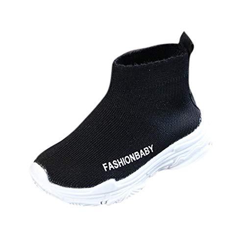Zapatos de bebé, ASHOP Niña Niños Deporte Antideslizante del Zapato Moda Casuales Zapatillas del Otoño Invierno Botines sólidos de Malla 0-6 Años (Negro,0-1 Años)