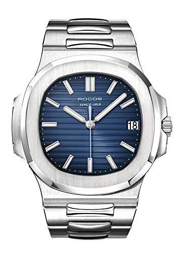 ROCOS Automatik Uhr Herren Analog Armbanduhr Edelstahl- R0139