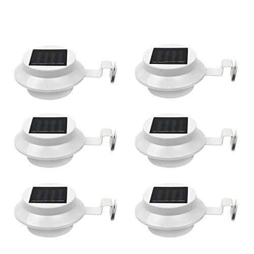 goeswell 3-LED Solar Powered Energiesparend outdoor Licht Wasserdicht Lampe für Garten Landschaft Yard Zaun Gosse Dach Mauer Door Gate Weg Lobby Auffahrt Backyard Beleuchtung