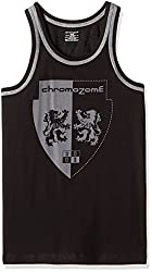 Chromozome Mens Cotton Vest (ST-04_ST04_black_XL)