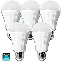 Aigostar - Pack de 5 Bombillas LED A60 15W, casquillo gordo E27, 1200 Lumen, luz blanca 6400K [Clase de eficiencia energética A+]