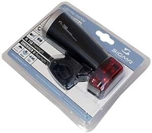 Sigma Sport Batterieleuchten-Set, anthrazit, 829