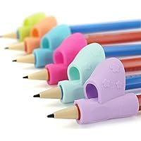 apretón de lápiz,Amamary Los niños de 3PCS / Set apuntan la herramienta de la corrección de la postura del apretón de la ayuda de escritura de la pluma del sostenedor Nuevo color al azar
