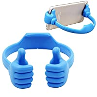 Emorias 1 Pcs Flexible Cute Thumb Designed Smartphone Tablet Desk Table Stand Display Mount Holder for most MobilePhone iPad,etc (Blue)