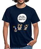 Spreadshirt Ralph Ruthe Comic Männer T-Shirt, XL, Navy