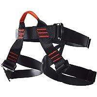 Newdoar - Arnés de escalada, cinturones de seguridad para mujer y hombre, para escalada de rock, escalada y rocío, negro