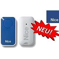 Nice inti1b Blue de 1canal handsender, 433.92MHz Rolling Code. compatible con flor de S, One, Flore, INTI fernbedienungen.