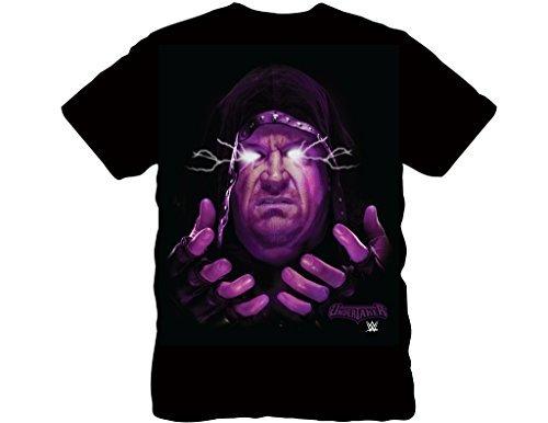 WWE Undertaker Glowing Erwachsene Schwarz T-Shirt (Large) (Undertaker Wwe Shirt)