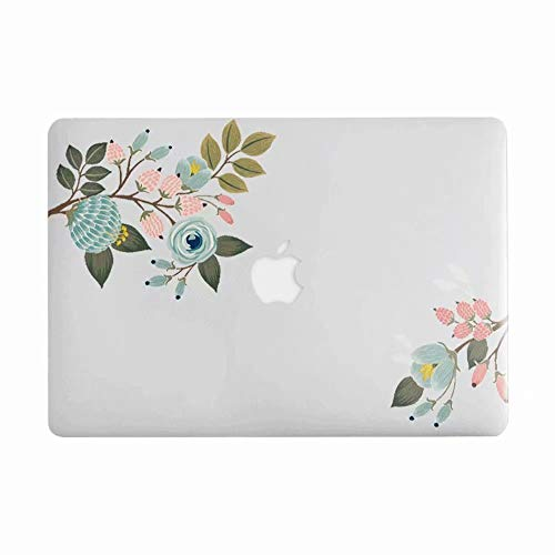 AQYLQ MacBook Schutzhülle/Hard Case Cover Laptop Hülle [Für MacBook Air 13 Zoll: A1369/A1466], Ultradünne Matt Plastik Gummierte Hartschale Schutzhülle, CY7.7-27 rosa Blume