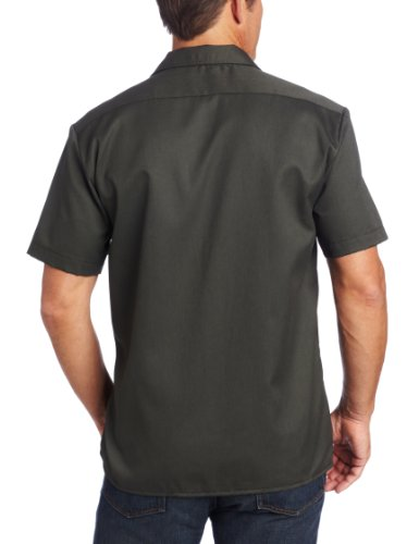 Dickies Herren Regular Fit Freizeithemd olive green / olivgrün