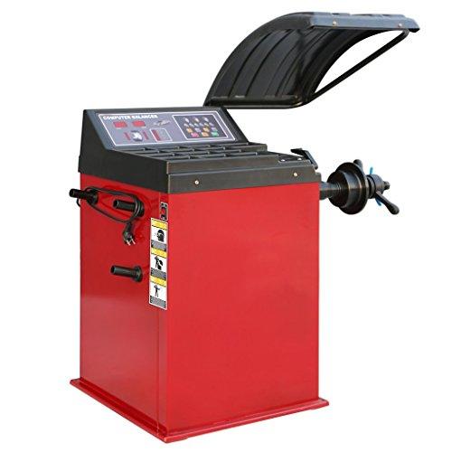 vidaXL Reifenwuchtmaschine Radwuchtmaschine Wuchtmaschine Auswuchtmaschine 1000 mm Rot