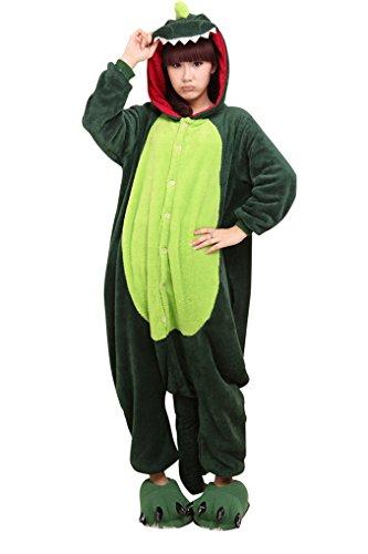 MissFox Kigurumi Pyjama Erwachsene Anime Cosplay Halloween Kostüm Kleidung Dinosaurier (Kostüme Sehr Lustig)