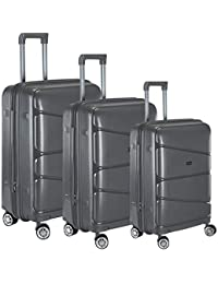 Nasher Miles Warrior Expander Hard-Sided PP Luggage Set of 3 Trolley Travel  8e2e8801e4e09