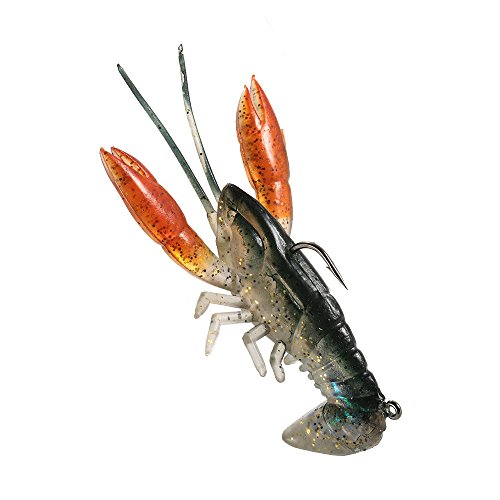 Lixada Leurres Souples Soft Crawfish Shrimp Lobster Claw Bait Artificial Lure Bait Swimbait 8cm / 14g