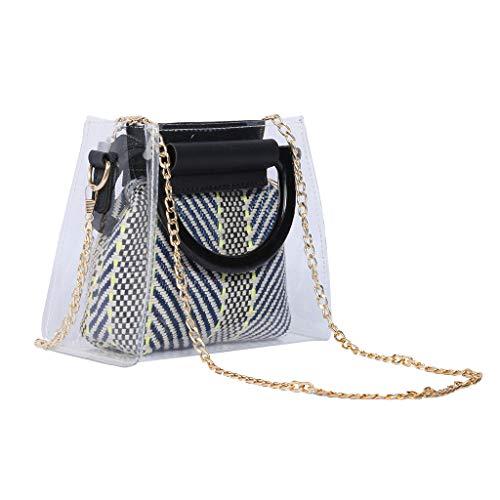 Banbry Mädchen umhängetasche Tasche,Mädchen Umhängetasche Handtasche, Prinzessin Mini Taschen, Damen Transparent Acryl Armband PVC Umhängetasche Handtasche Diagonal (Blau) -