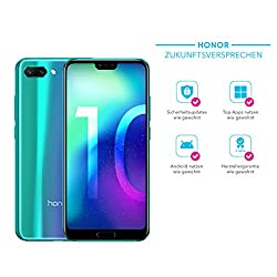 Honor 10 Smartphone (14,83 cm (5,84 Zoll), 128GB interner Speicher, 4GB RAM, 24 MP + 16 MP Dual Kamera, 24 MP Frontkamera, Dual-SIM, LTE, Android 8.1, EMUI 8.1) Phantom Grün - Deutsche Version