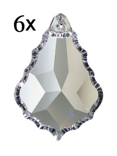 6x Regenbogenkristall Venezia 76mm Crystal 30%PbO ~ Kronleuchter Lüster Candelaber
