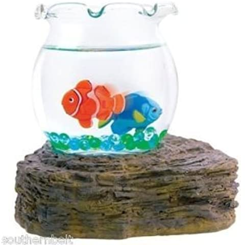 Magic Swimming Fish Bowl No Maintenance Desktop Toy Tropical Fish by WFT