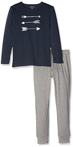 NAME IT Jungen Zweiteiliger Schlafanzug Nkmnightset Grey Mel Noos, Mehrfarbig (Grey Melange), 122