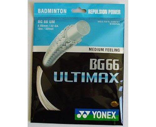 Yonex BG-66 Ultimax Saiten für Badmintonschläger, 10m Gelb gelb
