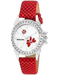 Mikado Red Butterfly Casual And Party Wedding Analog Watch For Women And Girls