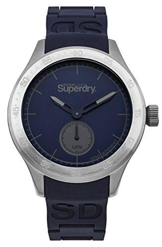Superdry Men's 'Scuba' Quartz Metal and Silicone Casual Watch, Color:Blue (Model: SYG212U)