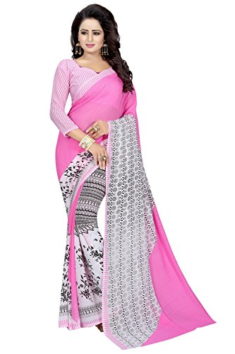 Macube Women's Clothing Saree for women latest Color Georgette Sarees free size...