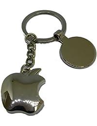 23503ce1a6 Portachiavi Apple logo - Imetallo cromato - Mis. 24 X 28 MM - Corredato di  scatola box - Personalizzazione gratuita…