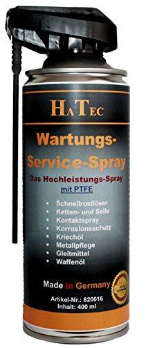 hatec Maintenance & Service Spray avec PTFE 400ml, spray de contact, plastique spray d'entretien, multifonction, huile, 15150005Produit anti-rouille, Service Spray, gunnex, Maintenance Spray pas cher