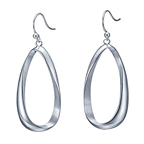 SILVERAGE 1 Pair Vogue Women's Earring Round Circle Sterling Silver