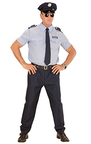 (,Karneval Klamotten' Kostüm Polizist Sander Herr Karneval Polizei Herrenkostüm Größe 54)